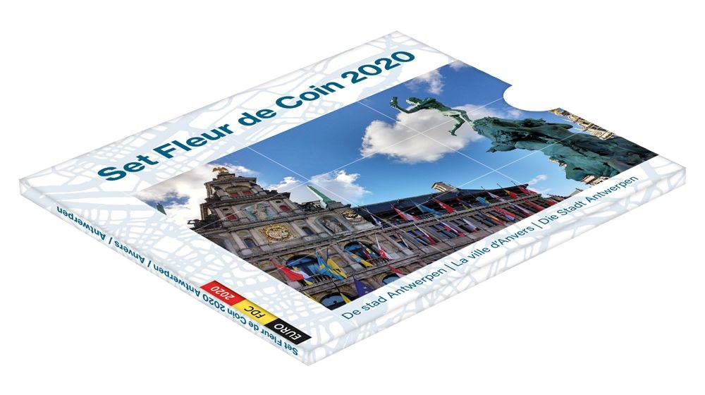 (EUR02.CofBU&FDC.2020.Cof-BU) BU coin set Belgium 2020 (Antwerp) (zoom)