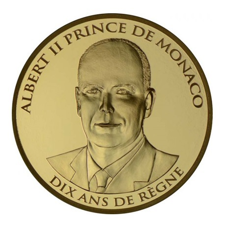 (EUR12.ComBU&BE.2015.10000.BE.COM1) 100 euro Monaco 2015 or BE - Albert II Avers