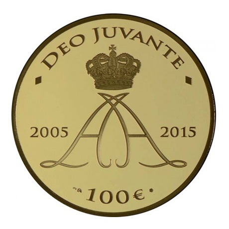 (EUR12.ComBU&BE.2015.10000.BE.COM1) 100 euro Monaco 2015 or BE - Albert II Revers