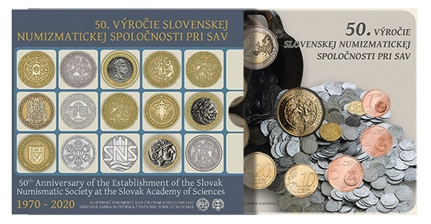 (EUR17.CofBU&FDC.2020.501460) BU coin seet Slovakia 2020 (Slovak numismatic society) (zoom)