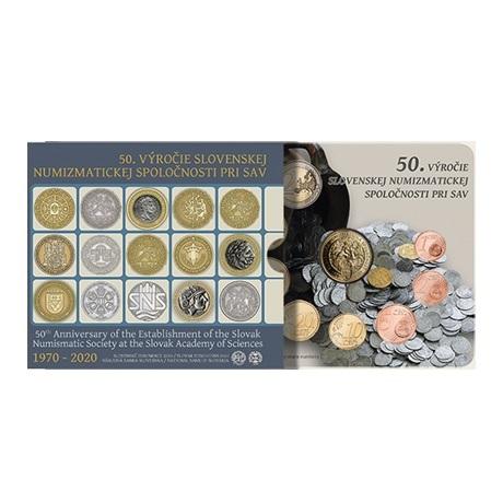 (EUR17.CofBU&FDC.2020.501460) Coffret BU Slovaquie 2020 (société numismatique slovaque)