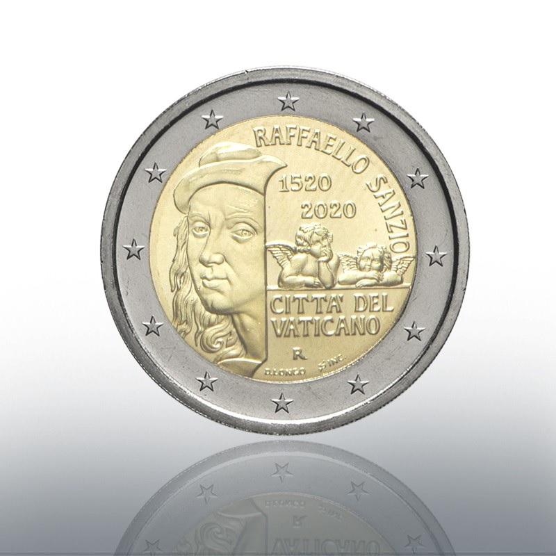 (EUR19.ComBU&BE.2020.CN1547) 2 euro Vatican 2020 BU - Raffaello Obverse (zoom)