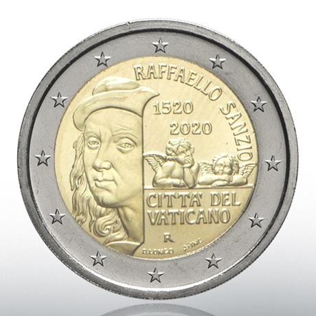 (EUR19.ComBU&BE.2020.CN1547) 2 euro commémorative Vatican 2020 BU - Raphaël Avers