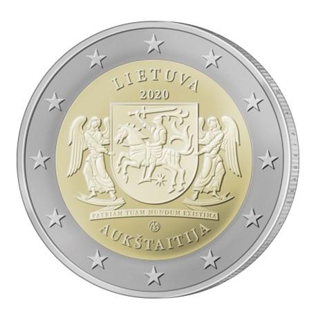 (EUR22.200.2020.COM1) 2 euro commémorative Lituanie 2020 - Aukštaitija Avers