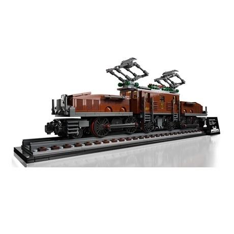 (Lego.Creator.10277) LEGO Creator - La locomotive crocodile (trois-quarts gauche)