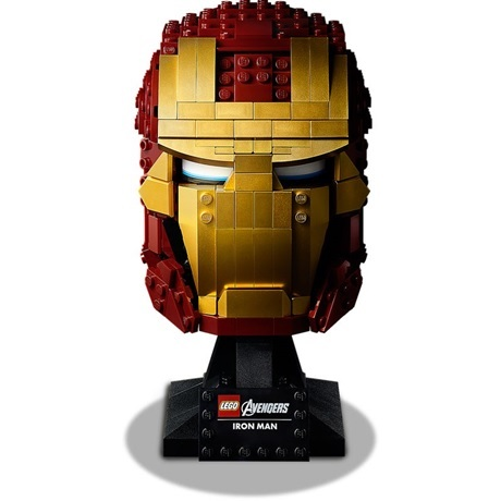 (Lego.Marvel.76165) LEGO Marvel - Casque d'Iron Man (de face)