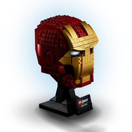 (Lego.Marvel.76165) LEGO Marvel - Casque d'Iron Man (trois-quarts droit)