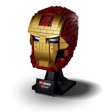 (Lego.Marvel.76165) LEGO Marvel - Casque d'Iron Man (trois-quarts gauche)
