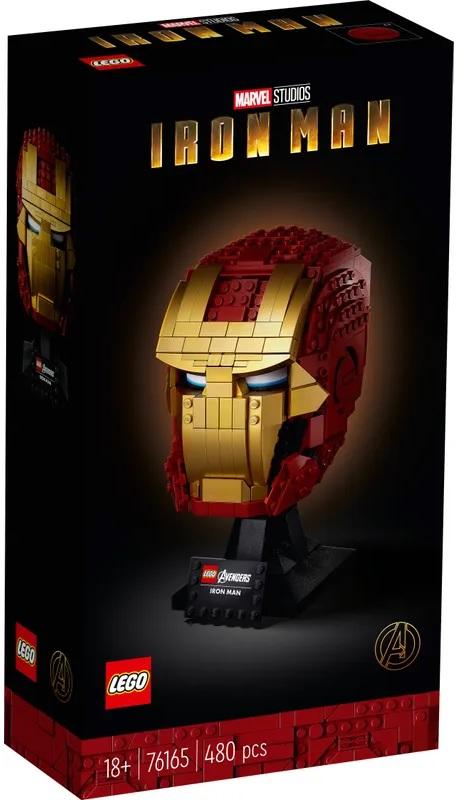 (Lego.Marvel.76165) LEGO Marvel - Iron Man helmet (box front) (zoom)