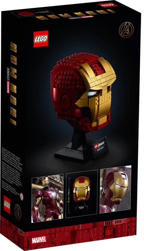 (Lego.Marvel.76165) LEGO Marvel - Iron Man helmet (box) (zoom)