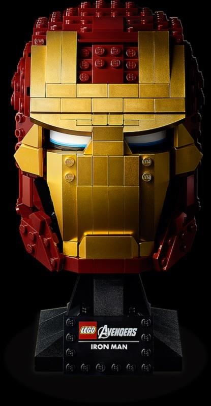 (Lego.Marvel.76165) LEGO Marvel - Iron Man helmet (facing) (zoom)