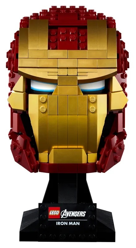 (Lego.Marvel.76165) LEGO Marvel - Iron Man helmet (zoom)