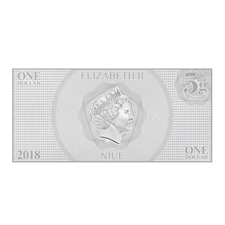 (W160.100.2018.30-00665) 1 Dollar Niue 2018 5 grammes argent BU - Belle Avers