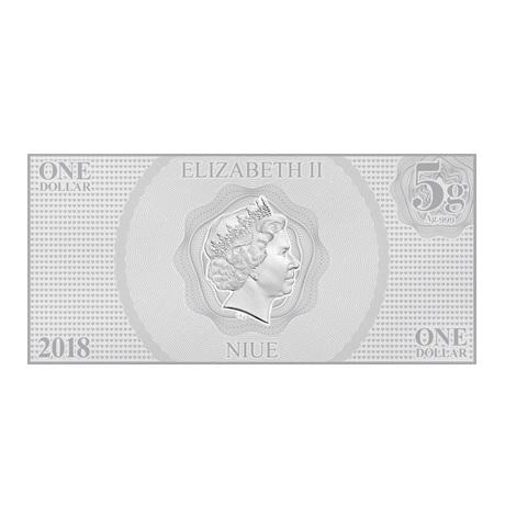 (W160.100.2018.30-00666) 1 Dollar Niue 2018 5 grammes argent BU - Aurore Avers