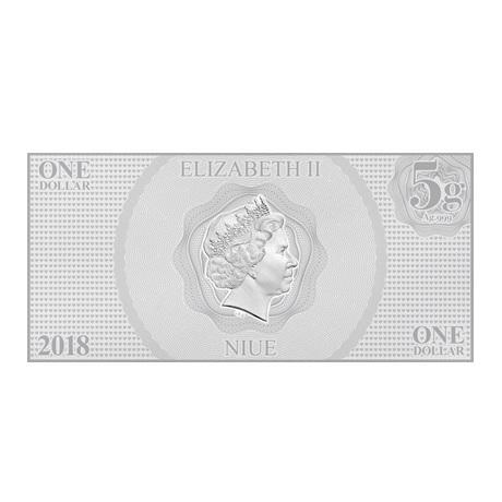 (W160.100.2018.30-00667) 1 Dollar Niue 2018 5 grammes argent BU - Blanche Neige Avers