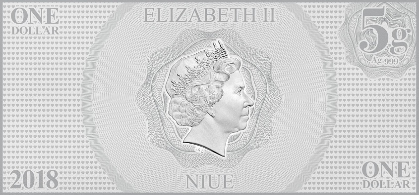 (W160.100.2018.30-00667) 1 Dollar Niue 2018 5 grams BU silver - Snow White Obverse (zoom)