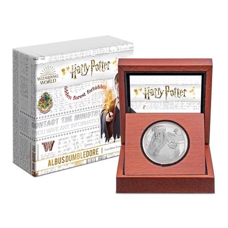 (W160.200.2020.1.ag.bullco.30-00954) 2 Dollars Niue 2020 1 once Ag BE - Albus Dumbledore (boîte et écrin)