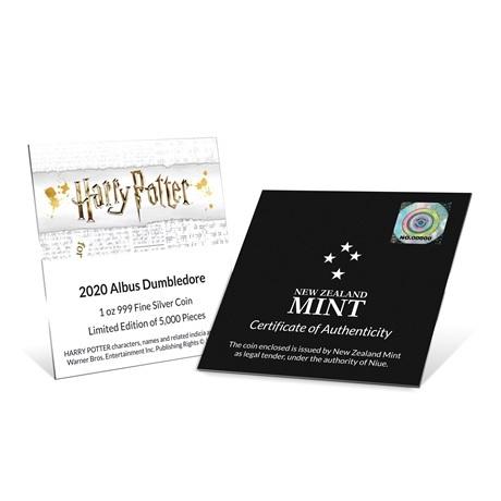 (W160.200.2020.1.ag.bullco.30-00954) 2 Dollars Niue 2020 1 once Ag BE - Albus Dumbledore (certificat)