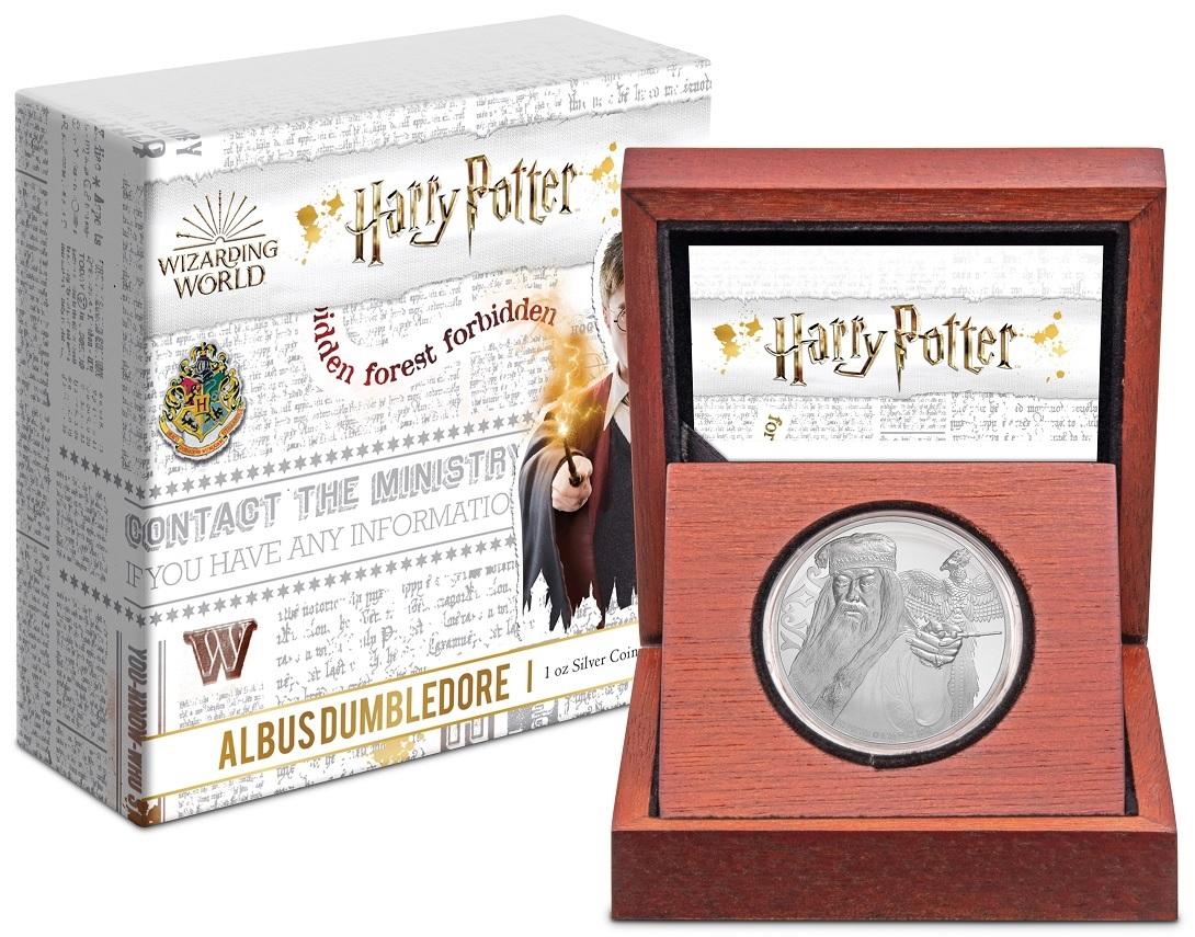(W160.200.2020.1.ag.bullco.30-00954) 2 Dollars Niue 2020 1 oz Proof Ag - Albus Dumbledore (box and case) (zoom)