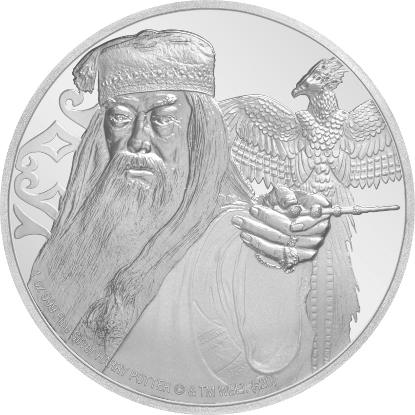 (W160.200.2020.1.ag.bullco.30-00954) 2 Dollars Niue 2020 1 oz Proof silver - Albus Dumbledore Reverse (zoom)