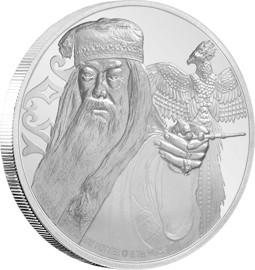 (W160.200.2020.1.ag.bullco.30-00954) 2 Dollars Niue 2020 1 oz Proof silver - Albus Dumbledore (edge) (zoom)