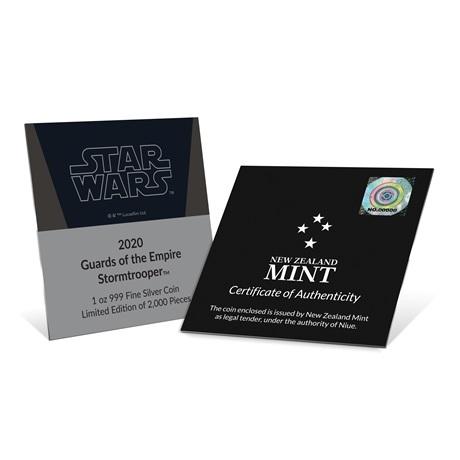 (W160.200.2020.30-00900) 2 Dollars Niue 2020 1 once Ag BE - Stormtrooper (certificat)