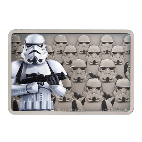 (W160.200.2020.30-00900) 2 Dollars Niue 2020 1 once argent BE - Stormtrooper Revers
