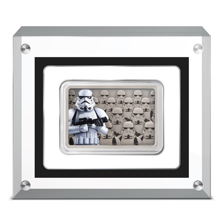 (W160.200.2020.30-00900) 2 Dollars Niue 2020 1 once argent BE - Stormtrooper (socle)