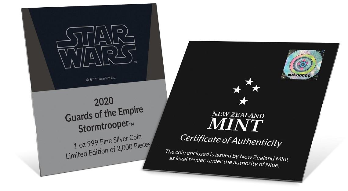 (W160.200.2020.30-00900) 2 Dollars Niue 2020 1 oz Proof Ag - Stormtrooper (certificate) (zoom)
