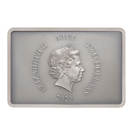 (W160.200.2020.30-00903) 2 Dollars Niue 2020 1 once argent BE - Garde prétorienne Avers