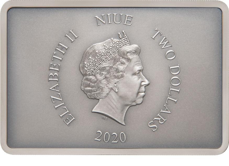 (W160.200.2020.30-00903) 2 Dollars Niue 2020 1 oz Proof silver - Praetorian Guard Obverse (zoom)