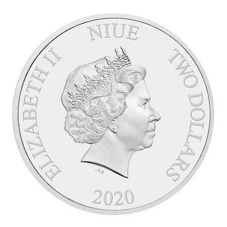 (W160.200.2020.30-00958) 2 Dollars Niue 2020 1 once argent BE - Winnie et Tigrou Avers