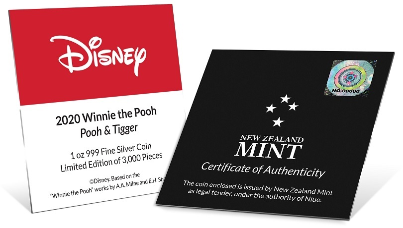 (W160.200.2020.30-00958) 2 Dollars Niue 2020 1 oz Proof silver - Pooh and Tigger (certificate) (zoom)