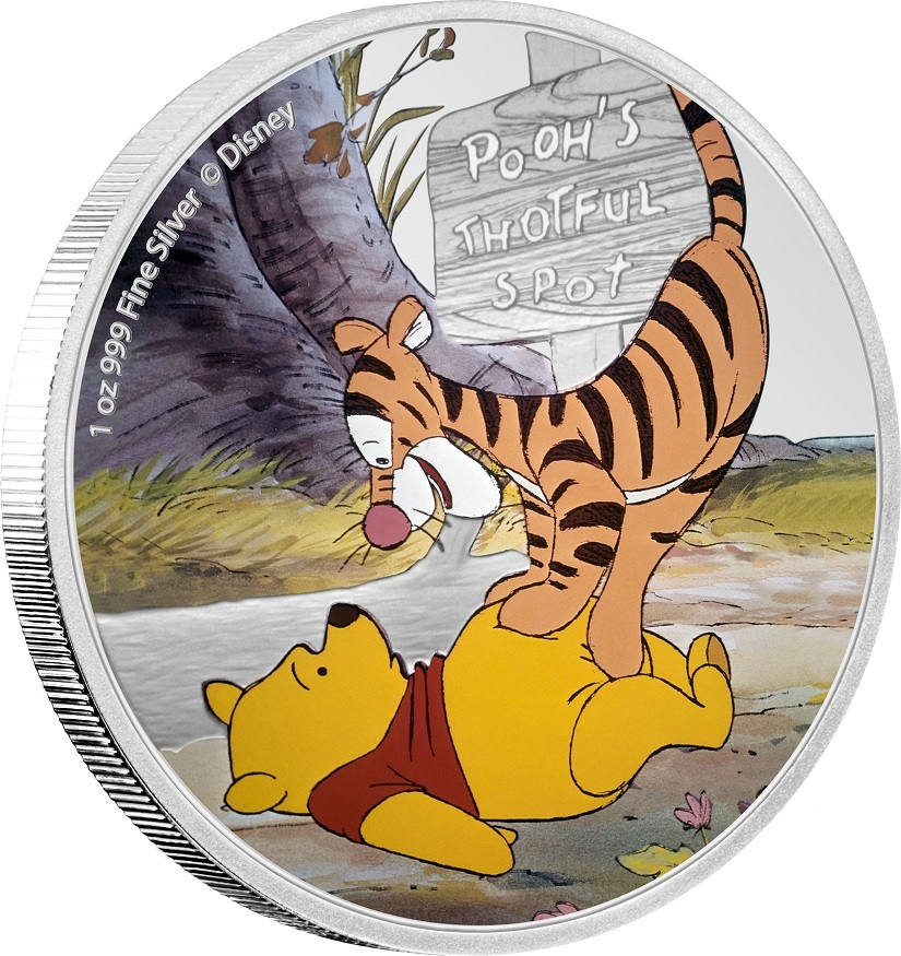 (W160.200.2020.30-00958) 2 Dollars Niue 2020 1 oz Proof silver - Pooh and Tigger (edge) (zoom)