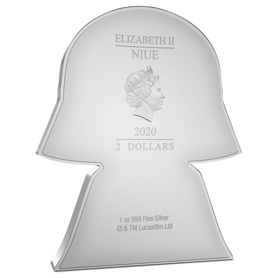 (W160.200.2020.30-00991) 2 Dollars Niue 2020 1 oz Proof silver - Chibi Darth Vader Obverse (zoom)