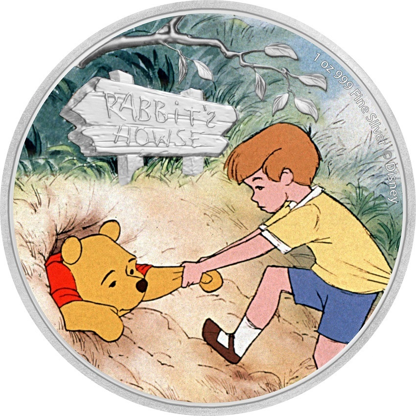 (W160.200.2020.30-01006) 2 Dollars Niue 2020 1 oz Proof silver - Pooh & Christopher Reverse (zoom)