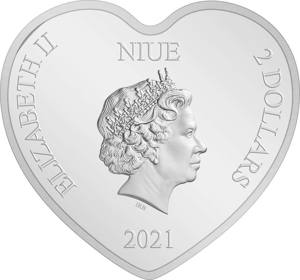 (W160.200.2021.30-00977) 2 Dollars Niue 2021 1 oz Proof silver - Ultimate couple Obverse (zoom)