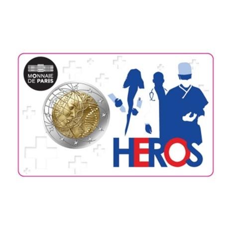 2 euro commémorative France 2020 BU - Recherche médicale (coincard Héros)
