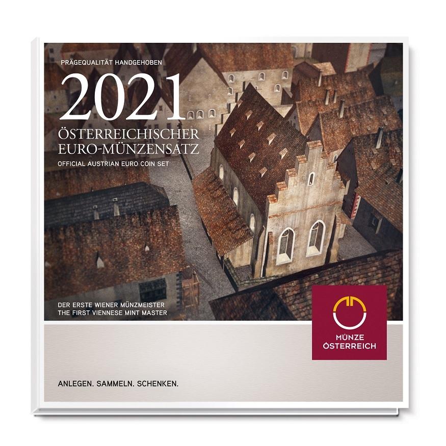 (EUR01.CofBU&FDC.2021.24613) BU coin set Austria 2021 (zoom)