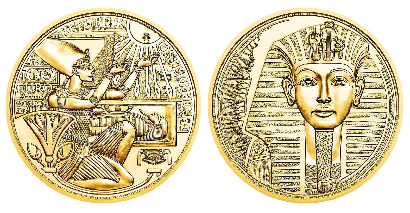 (EUR01.ComBU&BE.2020.10000.BE.24609) 100 euro Austria 2020 Proof gold - Gold of the Pharaohs (zoom)