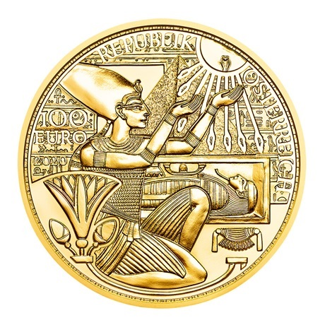 (EUR01.ComBU&BE.2020.10000.BE.24609) 100 euro Autriche 2020 or BE - Or des pharaons Avers