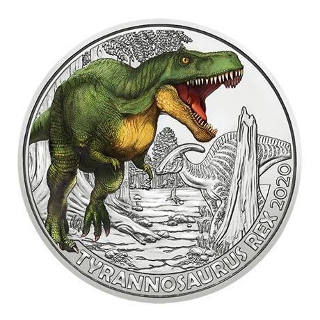 (EUR01.ComBU&BE.2020.300.24597) 3 euro Autriche 2020 - Tyrannosaure Revers