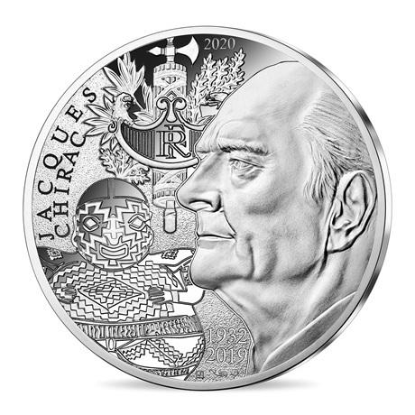 (EUR07.1000.2020.10041349410005) 10 euro France 2020 argent - Jacques Chirac Avers