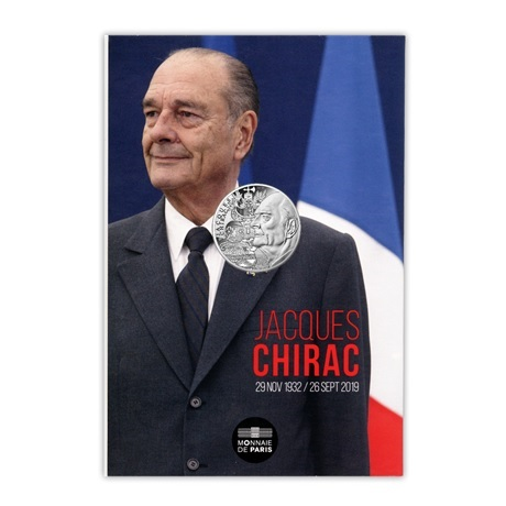 (EUR07.1000.2020.10041349410005) 10 euro France 2020 argent - Jacques Chirac Recto