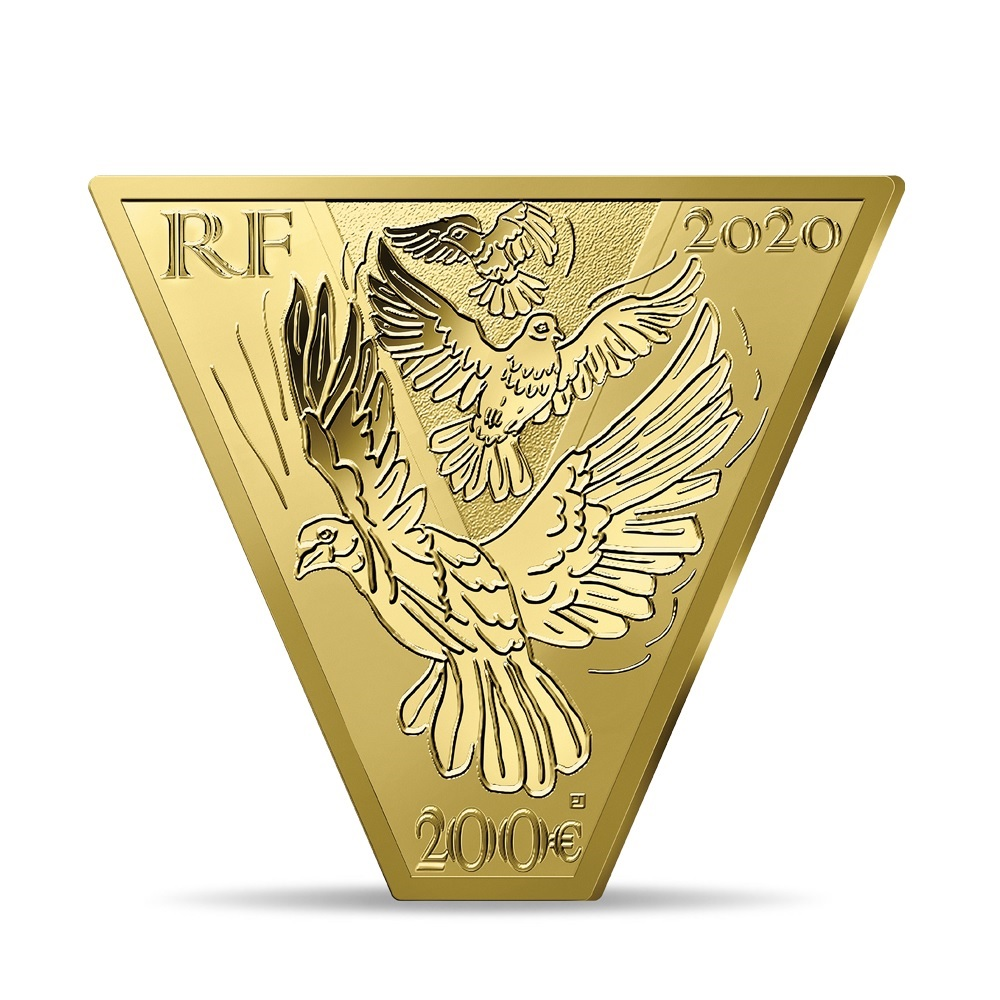 (EUR07.ComBU&BE.2020.10041343950000) 200 euro France 2020 Proof gold - Victory and peace Obverse (zoom)