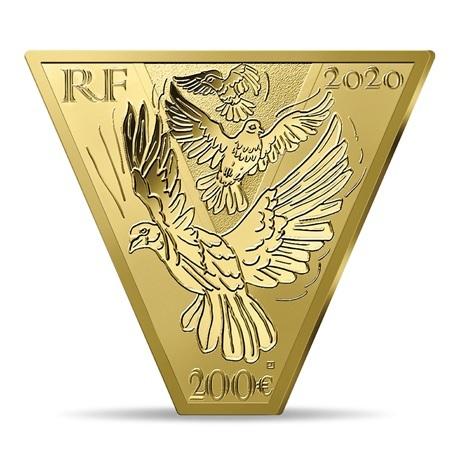 (EUR07.ComBU&BE.2020.10041343950000) 200 euro France 2020 or BE - Victoire et paix Avers
