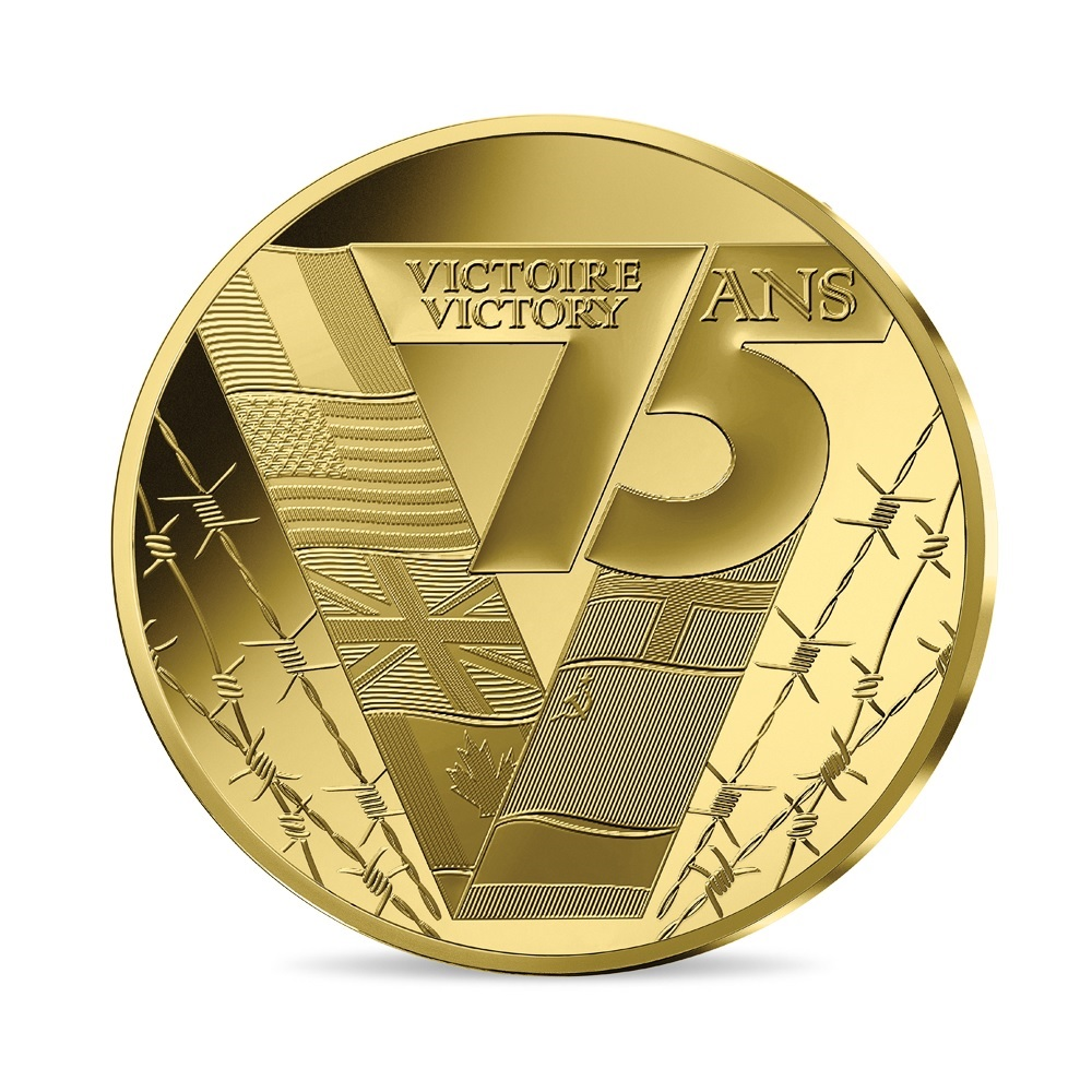 (EUR07.ComBU&BE.2020.10041343960000) 50 euro France 2020 Proof gold - Victory & peace Reverse (zoom)
