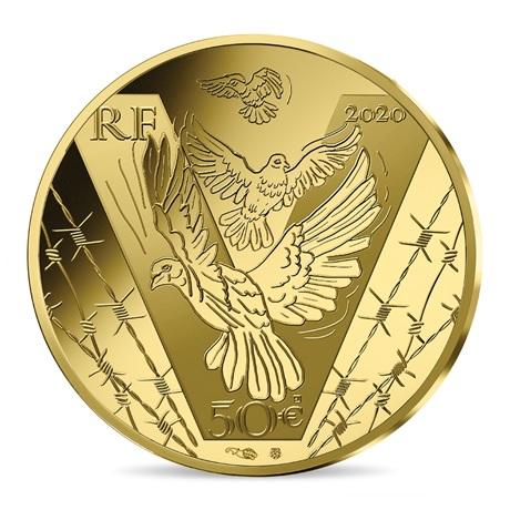 (EUR07.ComBU&BE.2020.10041343960000) 50 euro France 2020 or BE - Victoire et paix Avers