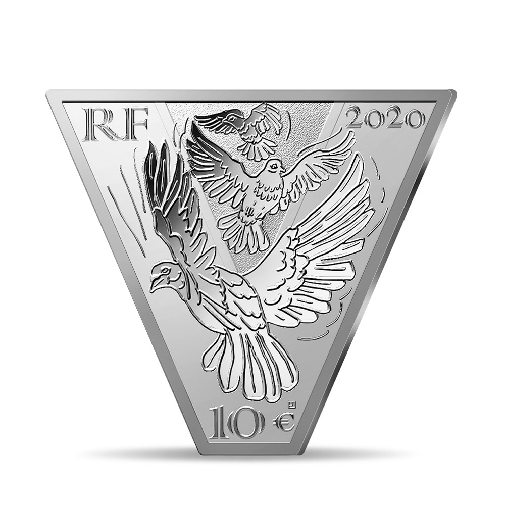 (EUR07.ComBU&BE.2020.10041343970000) 10 euro France 2020 Proof silver - Victory and peace Obverse (zoom)