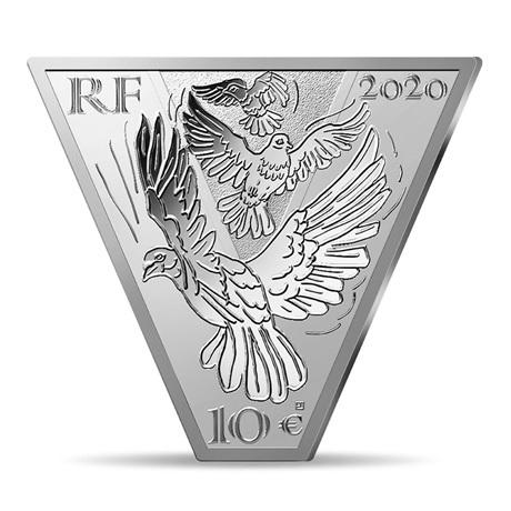 (EUR07.ComBU&BE.2020.10041343970000) 10 euro France 2020 argent BE - Victoire et paix Avers